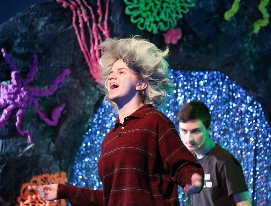 Zaya Koegel portrays Ursula during a recent rehearsal.