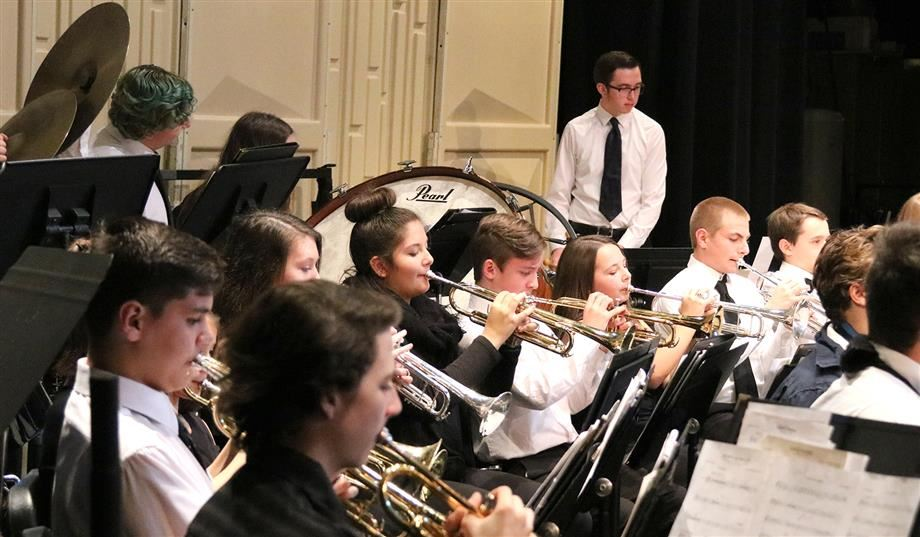 "The Firebird Symphonic Winds ensemble performs ""Midway March."""