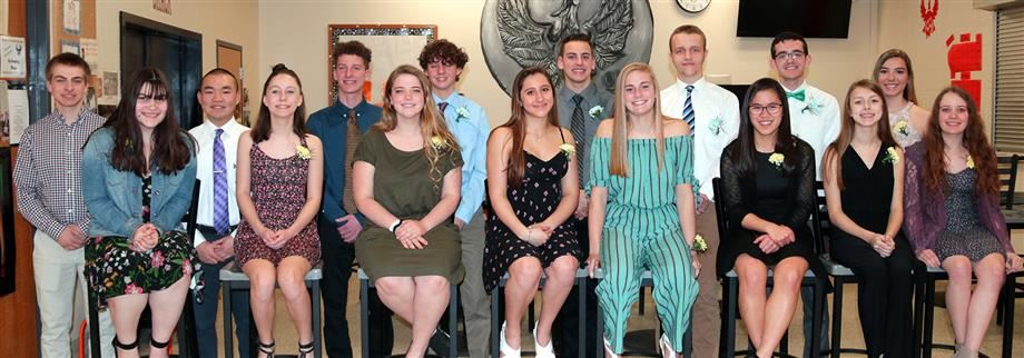 The 16 newest members of the John C. Birdlebough High School chapter of the National Honor Society
