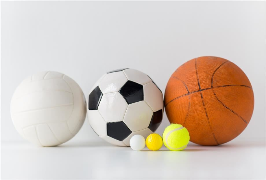 Soccer ball, basketball, volleyball