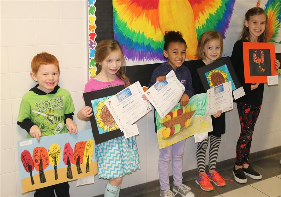 MAM students Liam Considine, Caitlyn D'Arcy, Andrea Davis, Abigail Oeinck and Emma Dates show their artwork.