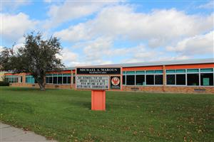 The entrance to Michael A. Maroun elementary school